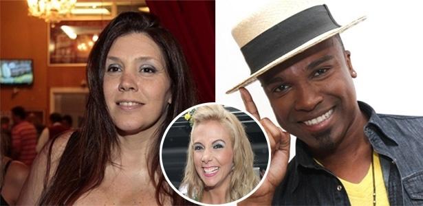 Simony (esq.) e Carla Perez foram namoradas do pagodeiro Alexandre Pires nos anos 90